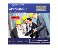 MEP Job Openings with one month Training|E&TIS