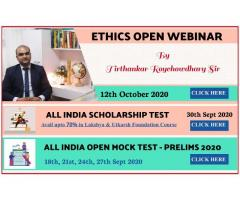 Ethics course by Tirthankar Sir Batch start from October