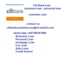 Citi bank loan apply now