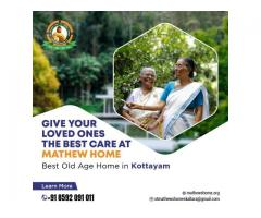 Give your loved ones the best care at Mathew Home. Best old age home in kottayam